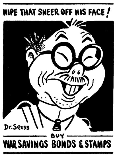 Tojo Caricature by Dr. Seuss