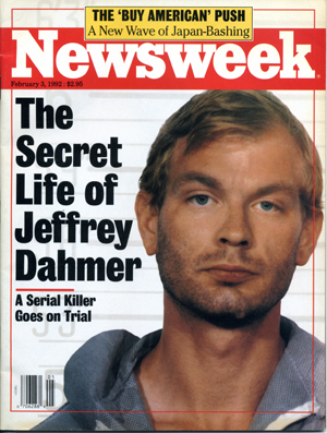 Dahmer on the cover of Newsweek, February 3, 1992